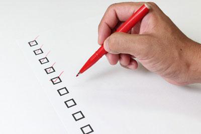 ミスパターンを網羅したチェックリストを作成する